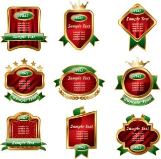 金縁の豪華なラベル Stock Label Vectors