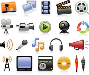 マルチメディア アイコン Multimedia Icons vector