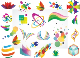 ロゴ デザイン エレメント Colorful Logo Design Elements Vector Set