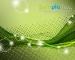 緑が基調の光る背景 Green Abstract Vector Background