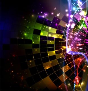 カラフルな色が光る背景 Abstract Design Vector Background