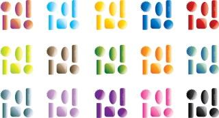 光沢ある各色Webボタン Collection of 90 Glossy Web 2.0 Style Buttons