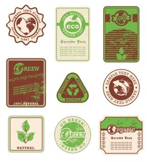 エコとヴィンテージのラベル ECO and grunge vintage labels1