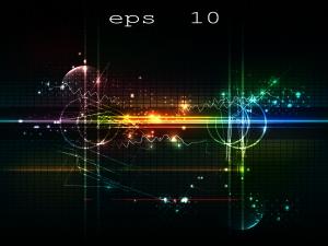 デジタルを表現した背景 Digital background vector