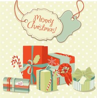 クリスマスのタグとプレゼントの背景 Christmas tags gift boxes backgrounds
