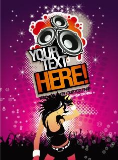 音楽パーティのポスター Music Background Party Time Poster