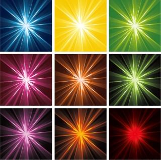 光線が拡散する背景 Light Rays Background Vector