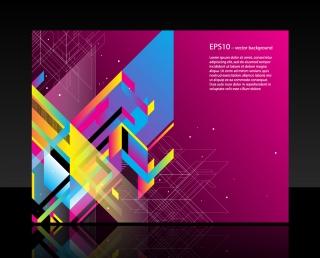 幾何学模様の背景 FASHION COLOR BLOCK BACKGROUND VECTOR イラスト素材1