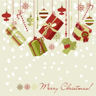 クリスマス・プレゼントの背景 beautiful Christmas gift boxes background