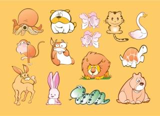 愛らしい動物の漫画 Vector cartoon Animal