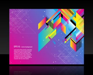 幾何学模様の背景 FASHION COLOR BLOCK BACKGROUND VECTOR イラスト素材2