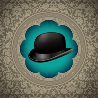 正装用帽子の背景 GENTLEMAN HAT BACKGROUND イラスト素材