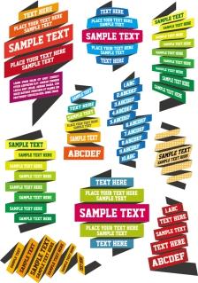 カラフルなテキスト テンプレート Text templates vector