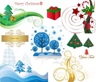洗練されたクリスマス素材BEAUTIFUL CHRISTMAS MATERIAL VECTOR イラスト素材3