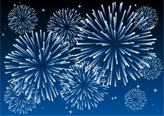祭日を祝う花火 festive atmosphere Fireworks イラスト素材4