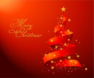 星飾りのクリスマス ツリー CHRISTMAS TREES, THE STARS VECTOR イラスト素材4