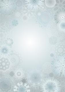 クリスマスの雪の背景 CHRISTMAS SNOWFLAKES VECTOR BACKGROUND イラスト素材2