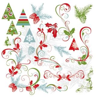 洗練されたクリスマス素材BEAUTIFUL CHRISTMAS MATERIAL VECTOR イラスト素材2