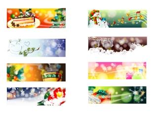 夢のクリスマスを描いたバナー christmas theme vector dream banner イラスト素材