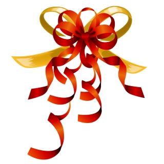 蝶結びのリボンとギフトカードのテンプレート bow ribbon gift card vector イラスト素材2