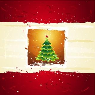 星飾りのクリスマス ツリー CHRISTMAS TREES, THE STARS VECTOR イラスト素材2
