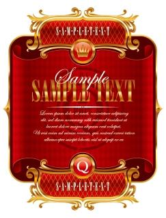 豪華な祭日のラベル HOLIDAY LABEL VECTOR MATERIAL イラスト素材1
