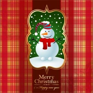 クリスマスを祝う雪だるまの背景 beautiful Christmas snowman background イラスト素材