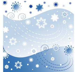 クリスマスの雪の背景 CHRISTMAS SNOWFLAKES VECTOR BACKGROUND イラスト素材1