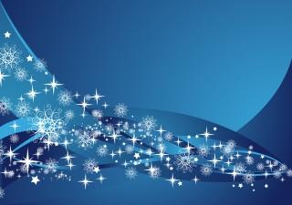 雪の結晶が舞う青い背景 BLUE SNOWFLAKE BACKGROUND VECTOR イラスト素材