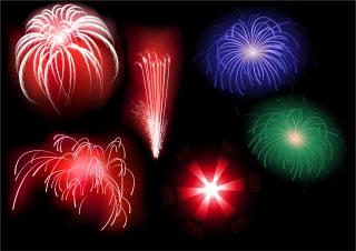 祭日を祝う花火 festive atmosphere Fireworks イラスト素材1