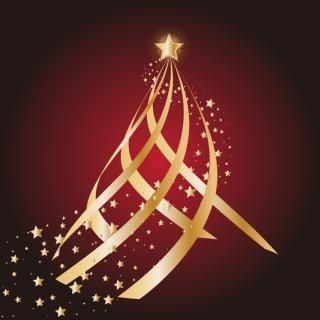 星飾りのクリスマス ツリー CHRISTMAS TREES, THE STARS VECTOR イラスト素材3