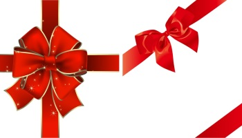bow ribbon gift card red ribbon bow gift vector material negle Images