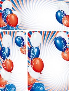 風船と紙吹雪の背景 balloon festival background イラスト素材