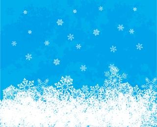 クリスマスの雪の背景 CHRISTMAS SNOWFLAKES VECTOR BACKGROUND イラスト素材3