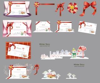 美しいクリスマス・カードのテンプレート beautiful christmas cards vector イラスト素材