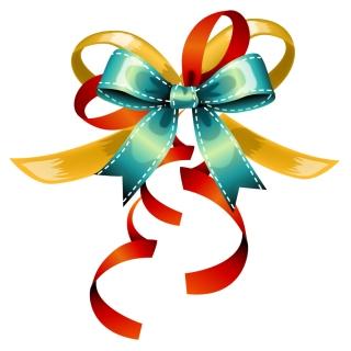 蝶結びのリボンとギフトカードのテンプレート bow ribbon gift card vector イラスト素材3