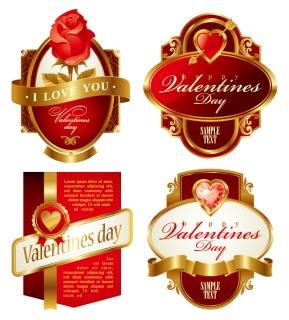 豪華な祭日のラベル HOLIDAY LABEL VECTOR MATERIAL イラスト素材3
