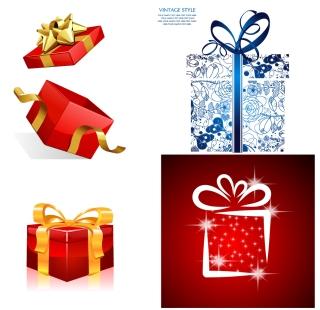 立体的なプレゼント箱 three-dimensional gift packaging vector イラスト素材
