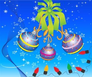 8種類のクリスマス ボールの背景 Christmas hanging ball ornaments snowflake イラスト素材1