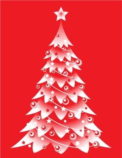 星飾りのクリスマス ツリー CHRISTMAS TREES, THE STARS VECTOR イラスト素材1