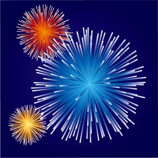 祭日を祝う花火 festive atmosphere Fireworks イラスト素材2