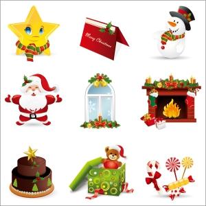美しいクリスマス飾りのセット beautiful christmas ornaments vector イラスト素材