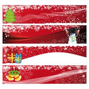 華やいだクリスマス バナー festive christmas banner vector イラスト素材