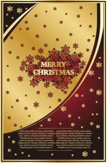 クラシックなクリスマスの背景素材 classic christmas background vector イラスト素材3