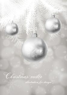 お洒落なクリスマス ボールの背景 christmas ball background vector イラスト素材2
