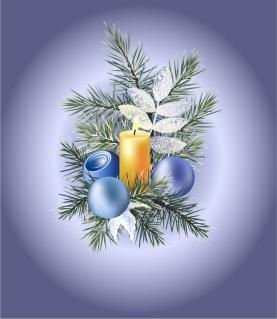 ロマンチックなクリスマスの夜 cartoon christmas ornaments background イラスト素材2