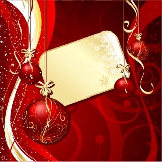 豪華なクリスマス ボールの背景 christmas ball background vector イラスト素材5
