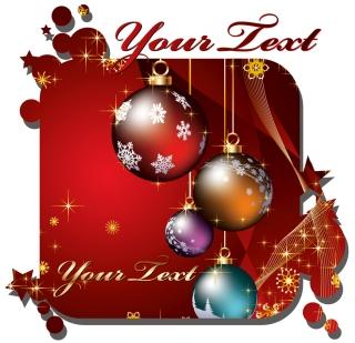 クリスマス・カード テンプレート beautiful christmas cards vector イラスト素材