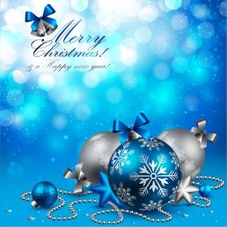 クリスマスの鐘とチェーンで吊るすボール Christmas bells, ornaments, chains イラスト素材