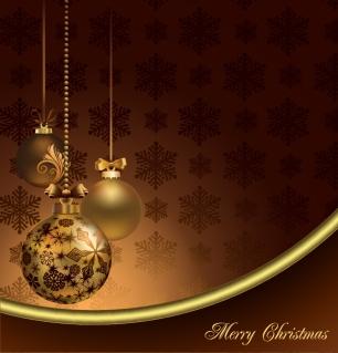 豪華なクリスマス ボールの背景 christmas ball background vector イラスト素材1